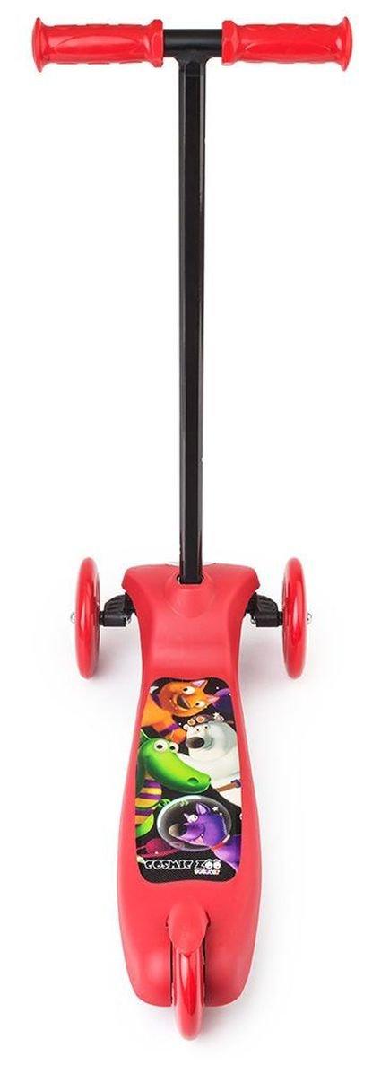 Detskiy Trehkolesniy Samokat Small Rider Cosmic Zoo Scooter Red6