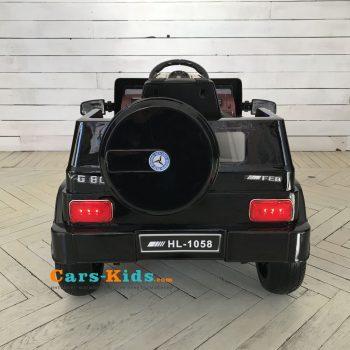 Электромобиль Мерседес Гелик М001МР черный глянец (колеса резина, сиденье кожа, пульт, музыка)