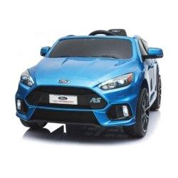 Электромобиль Ford Focus RS F777 синий (колеса резина, кресло кожа, пульт, музыка)