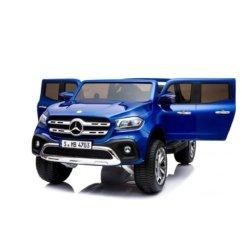 Электромобиль Mercedes-Benz X-Class 4WD синий ( 2х местный, полный привод, резина, кожа, пульт, музыка)